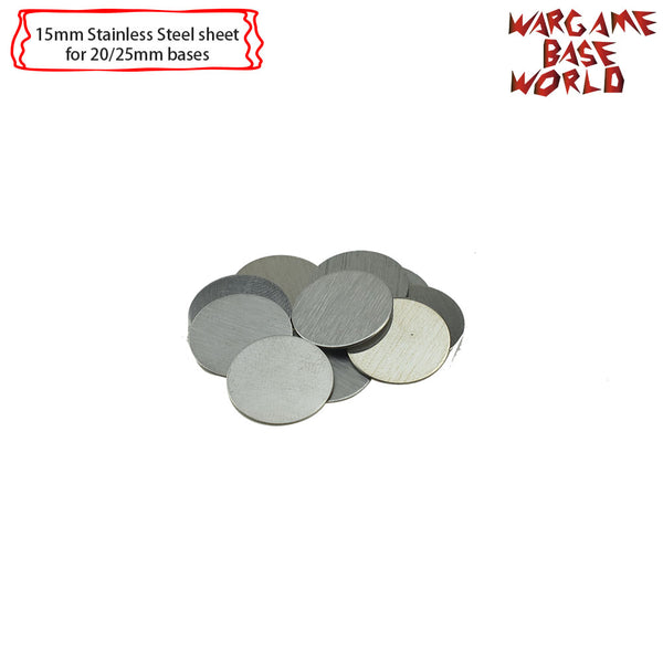 warhammer bases - Movement Tray Accessories - Stainless Steel Sheet 15mm-30mm -10pcs - tools - WargameBase Store