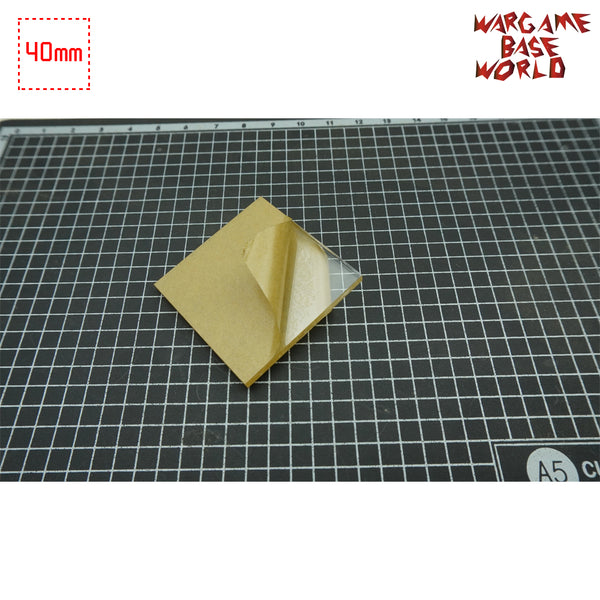 warhammer bases - 40mm Square Clear Bases TRANSPARENT / CLEAR BASES for Miniatures - Clear Bases - WargameBase Store