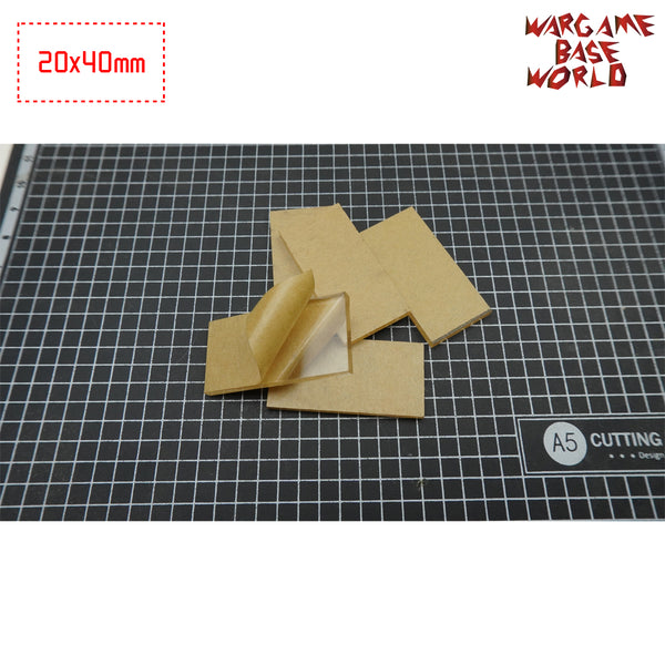 warhammer bases - 40x20mm Rectangle Clear Bases TRANSPARENT / CLEAR BASES for Miniatures - Clear Bases - WargameBase Store