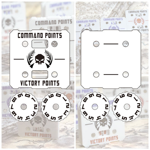 Wargame Base World - Wound Counter/Tracker/Dial/Marker Command points - Two sets - WargameBase Store