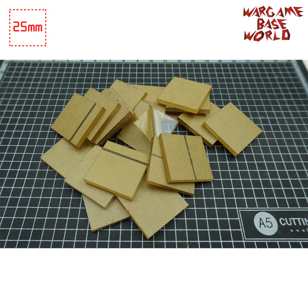 warhammer bases - 25mm Square Clear Bases TRANSPARENT / CLEAR BASES for Miniatures - Clear Bases - WargameBase Store