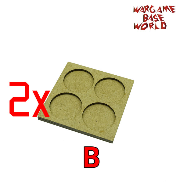 MDF Bases - 4 Model - Movement Tray - 2sets - 32mm round