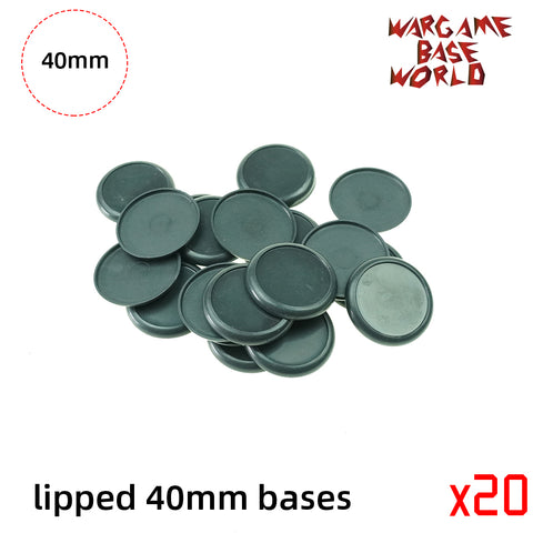 Wargame Bases - 40mm Lipped bases