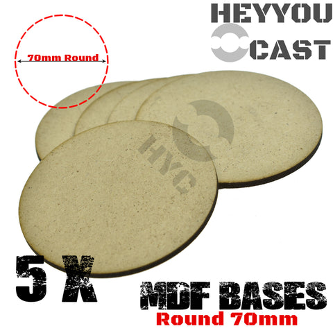 warhammer bases - Lot of 5 MDF bases Round 70mm - MDF BASE - WargameBase Store