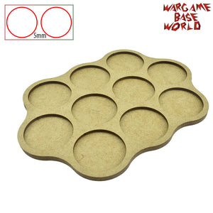 warhammer bases - Movement Tray - 40mm round bases - 10 Model - tools - WargameBase Store