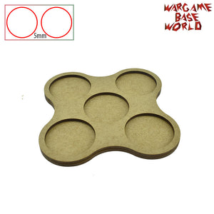 Movement Tray - 40mm round bases - 5 Model - WargameBase Store