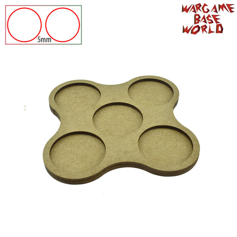 warhammer bases - Movement Tray - 40mm round bases - 5 Model - tools - WargameBase Store