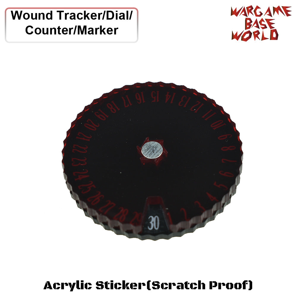 Wargame Base World - Wound Counter/Tracker/Dial/Marker 01-30 Wound Counter - Two sets - WargameBase Store