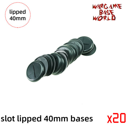 Wargame Bases - 40mm  Slot Lipped bases