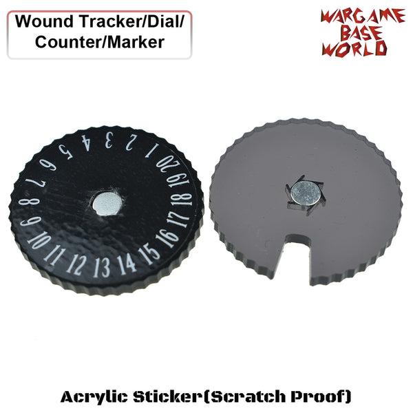 warhammer bases - Wargame Base World - Wound Counter/Tracker/Dial/Marker 01-20 Wound Counter - 4 sets - Wound Counter - WargameBase Store