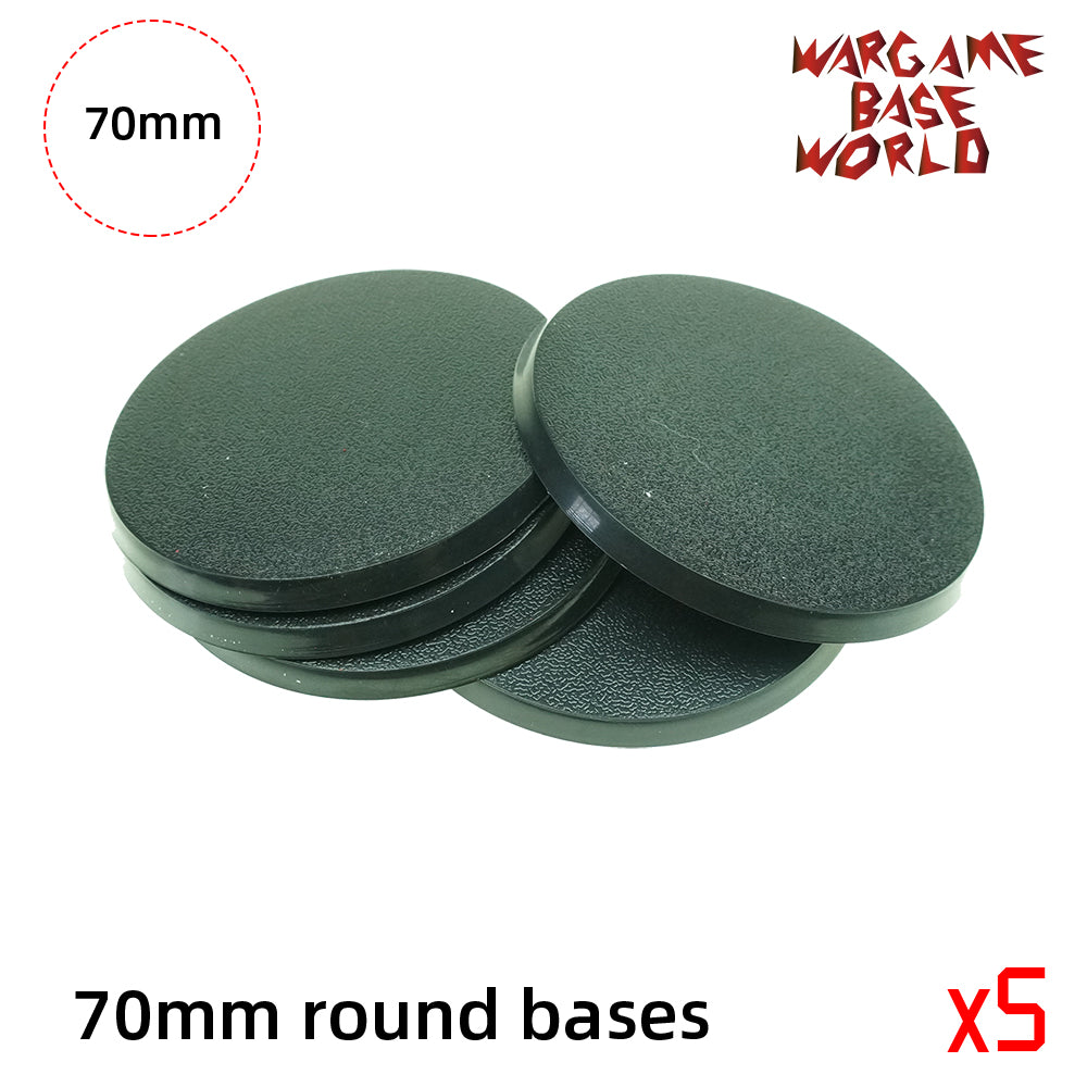 warhammer bases - Round bases - 70mm round bases - Plastic wargame bases - HeyyoucCast Workshop