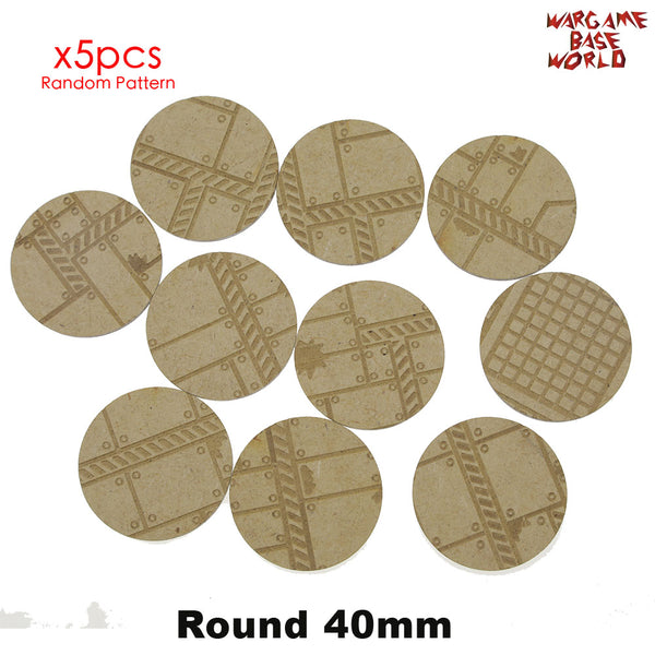 warhammer bases - MDF Texture Bases - 25mm - 40mm Factory Ground Texture bases - MDF Texture Bases - WargameBase Store