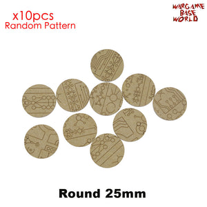 warhammer bases - MDF Texture Bases - 25mm - 40mm Necronic Texture bases - MDF Texture Bases - WargameBase Store
