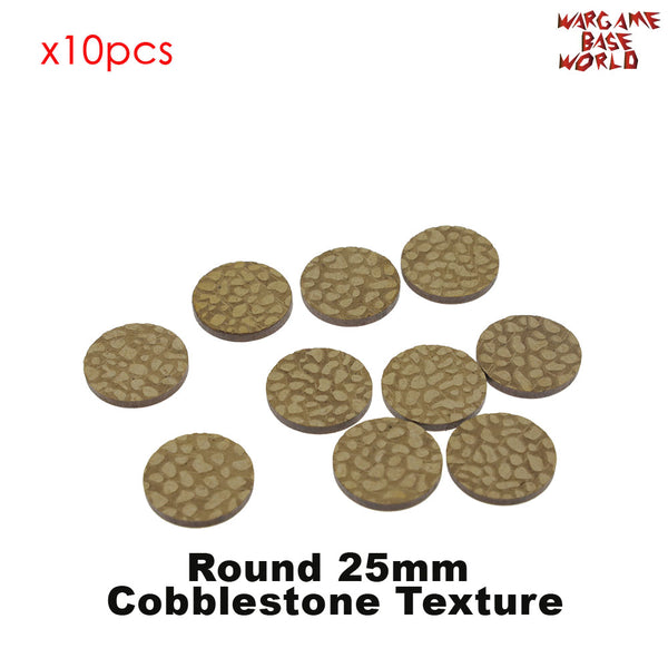warhammer bases - MDF Texture Bases - 25mm - 40mm Cobbestone Texture bases - MDF Texture Bases - WargameBase Store