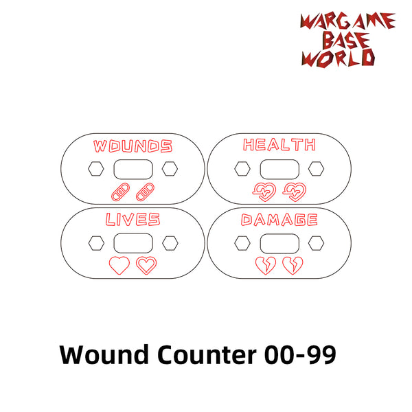 warhammer bases - Wargaming Accessory Set - wound counter - 4pcs - Wound Counter - WargameBase Store