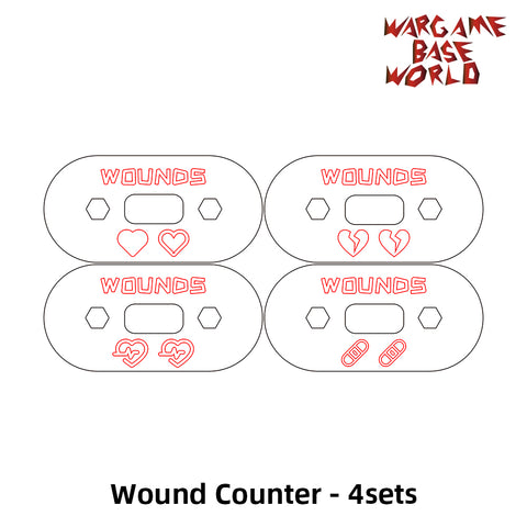 Wargaming Accessory Set - wound counter - 4pcs