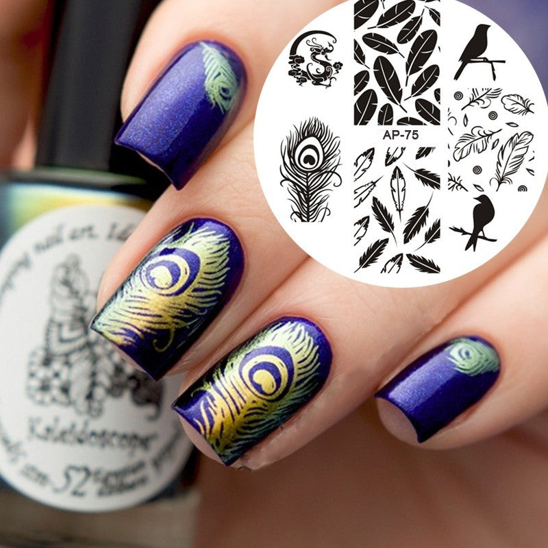 Nail Art Stickers Birds Feather Design Shsh Beauty Store
