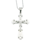 Large Polished Stainless Steel Crucifix