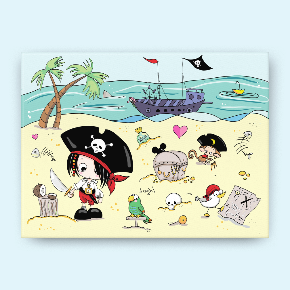A Pirate's Life for Me Canvas