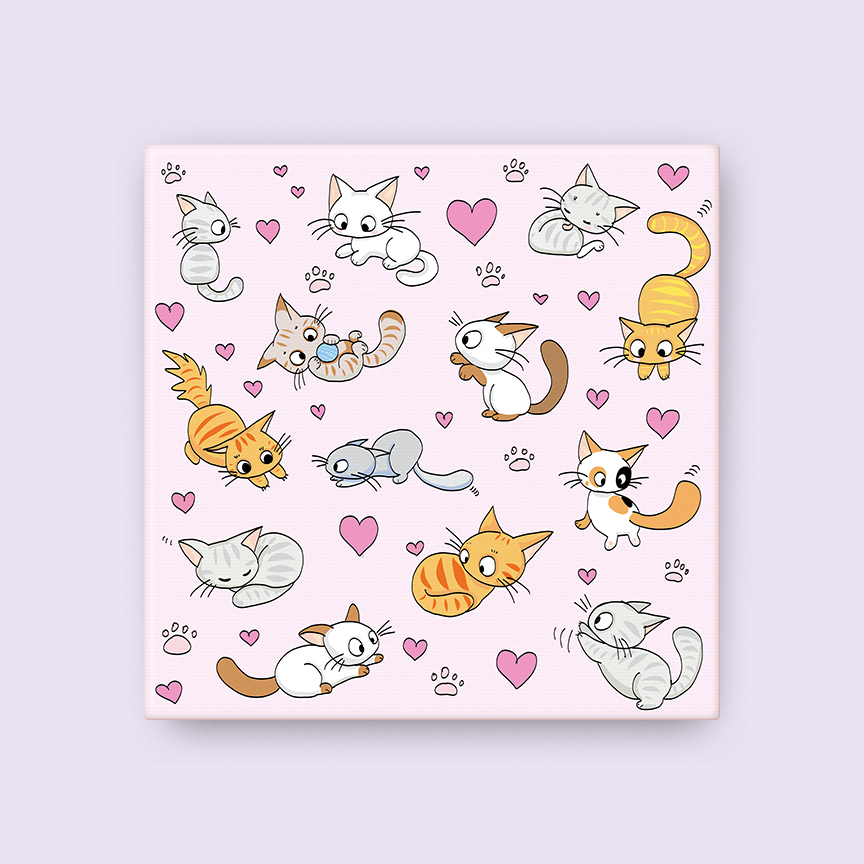 Kitten Party Canvas
