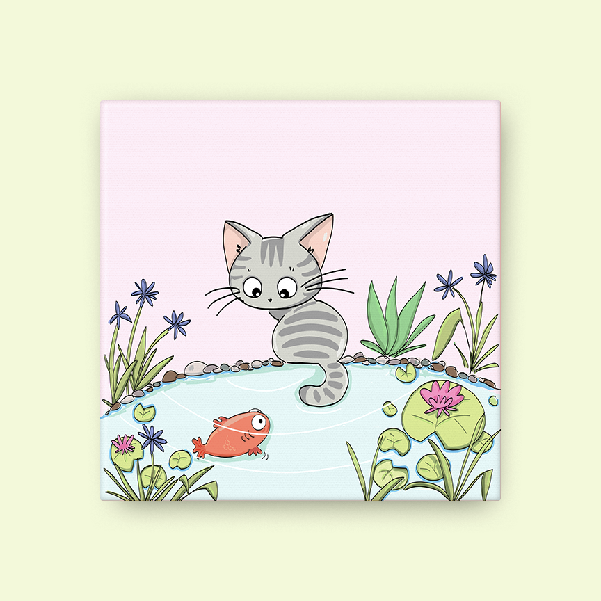 Cat Fish Canvas