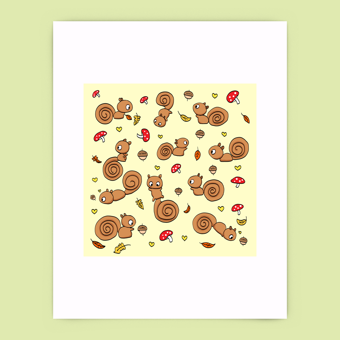 Cinnamon Squirrels Print
