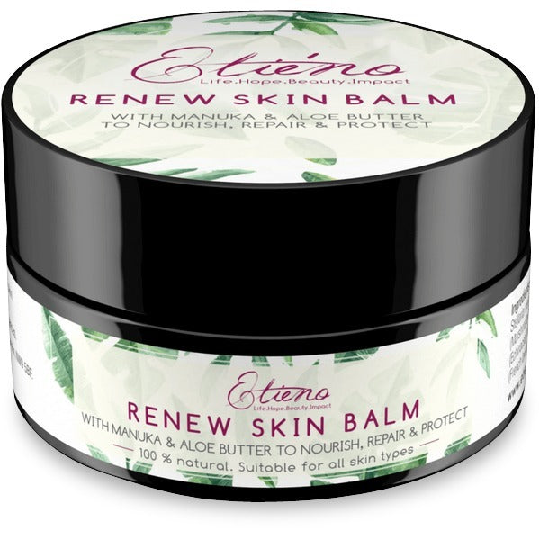 Etieno Renew skin balm to repair dry itchy sensitive chemotherapy radiotherapy cancer skin