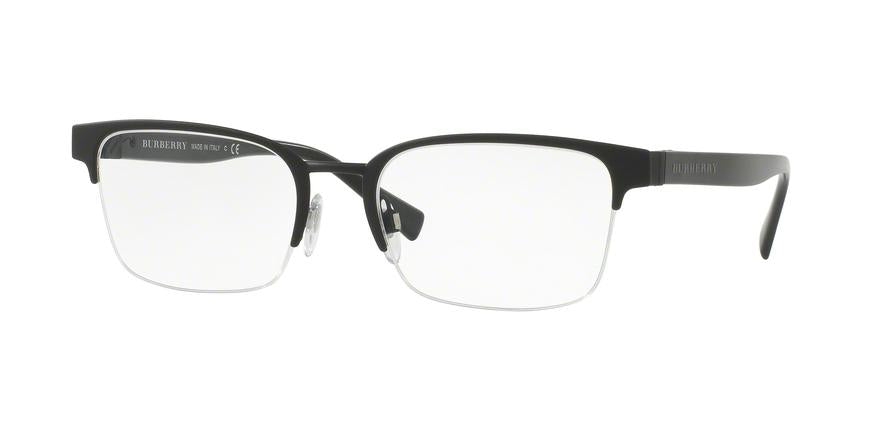 Burberry BE1308 Rectangle Eyeglasses  1213-BLACK RUBBER 54-19-145 - Color Map black