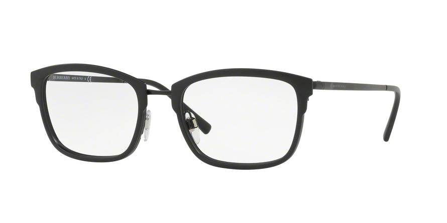 Burberry BE1319 Square Eyeglasses  1007-MATTE BLACK 54-19-145 - Color Map black