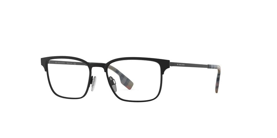 Burberry BE1332 Rectangle Eyeglasses  1283-BLACK RUBBER 54-17-145 - Color Map black