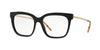 Burberry BE2271 Square Eyeglasses  3001-BLACK 54-17-140 - Color Map black