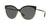 Burberry BE3096 Cat Eye Sunglasses  126287-BLACK/LIGHT GOLD 55-17-140 - Color Map black