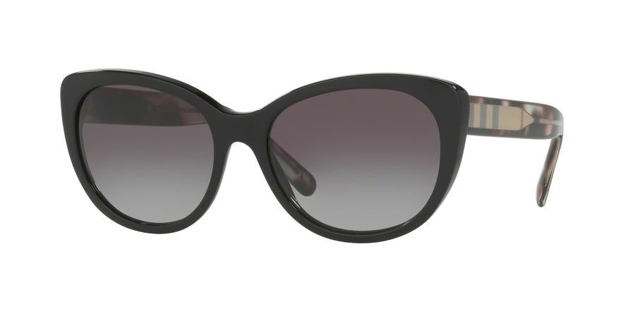 Burberry BE4224 Cat Eye Sunglasses  30018G-BLACK 56-17-140 - Color Map black