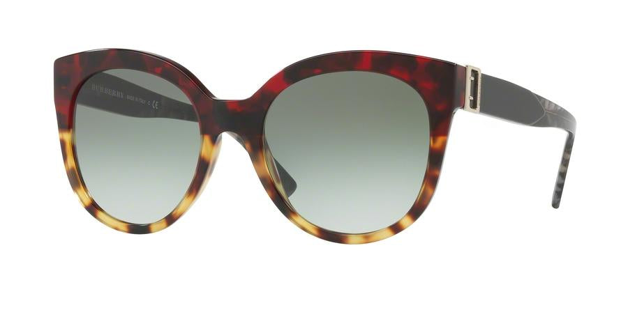 Burberry BE4243F Cat Eye Sunglasses  36358E-RED HAVANA/LIGHT HAVANA 55-20-140 - Color Map red