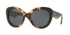 Burberry BE4253 Round Sunglasses  364987-TOP BLACK ON HAVANA 54-21-140 - Color Map black