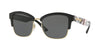 Burberry BE4265 Square Sunglasses  372387-BLACK/LIGHT GOLD 54-18-140 - Color Map black