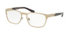Bvlgari BV1098TK Rectangle Eyeglasses  2039-PALE GOLD PLATED MATTE 55-19-145 - Color Map gold