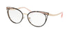 Bvlgari BV2186 Cat Eye Eyeglasses  2033-BLACK/PINK GOLD 53-17-140 - Color Map black