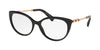 Bvlgari BV4168KB Oval Eyeglasses  5195-BLACK 56-17-140 - Color Map black