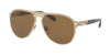 Bvlgari BV5043TK Pilot Sunglasses  203983-PALE GOLD PLATED MATTE 57-14-145 - Color Map gold