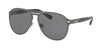 Bvlgari BV5043TK Pilot Sunglasses  204081-TITANIUM PLATED MATTE 57-14-145 - Color Map gunmetal