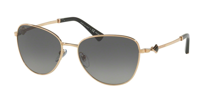 Bvlgari BV6097KB Cat Eye Sunglasses  395/T3-PINK GOLD PLATED 57-17-125 - Color Map gold