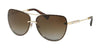 Bvlgari BV6113KB Pilot Sunglasses  2041T5-PALE GOLD PLATED 61-12-140 - Color Map gold