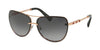 Bvlgari BV6113KB Pilot Sunglasses  395/T3-PINK GOLD PLATED 61-12-140 - Color Map gold