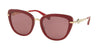 Bvlgari BV8193B Cat Eye Sunglasses  54321A-TRY LAYER BURGUNDY 54-20-140 - Color Map purple/reddish