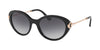 Bvlgari BV8216BF Oval Sunglasses  501/8G-BLACK 54-19-140 - Color Map black