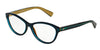 DOLCE & GABBANA DG3232 Cat Eye Eyeglasses  2958-TOP PETROLEUM ON GOLD 55-15-140 - Color Map green
