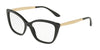DOLCE & GABBANA DG3280F Cat Eye Eyeglasses  501-BLACK 54-15-140 - Color Map black
