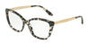 DOLCE & GABBANA DG3280F Cat Eye Eyeglasses  911-CUBE BLACK/GOLD 54-15-140 - Color Map black
