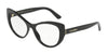 DOLCE & GABBANA DG3285F Cat Eye Eyeglasses  501-BLACK 54-17-140 - Color Map black